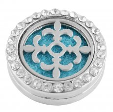 22mm white alloy Cross Aromatherapy/Essential Oil Diffuser Perfume Locket snap with 1pc 15mm  discs as gift