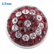 Small size snaps Style chunks with red rhinestone KS2713-S