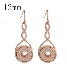 snap Rose Gold earring fit 12MM snaps style jewelry KS1148-S