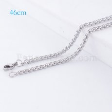 46CM Stainless steel fashion chain fit all jewelry silver plated FC9023