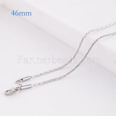 46CM Stainless steel fashion chain fit all jewelry silver plated FC9028