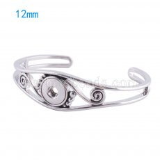 Alloy bangle bracelets Fit 12mm snaps KS0981-S jewelry