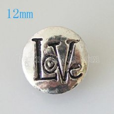 12mm love snaps  Silver Plated KB6654-S snap jewelry