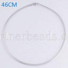 46CM Stainless steel fashion chain fit all jewelry silver plated FC9020