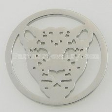 33MM stainless steel coin charms fit  jewelry size leopard