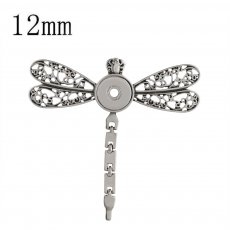 snap sliver dragonfly Colgante fit 12MM broches estilo joyería KS0359-S