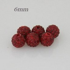 6mm Dark red STELLUX Austrian crystal ball beads