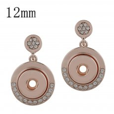 snaps Rose Gold Earring fit small size chunks