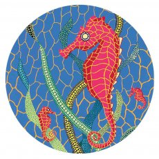 20MM Painted sea horse enamel metal C5687 print snaps jewelry