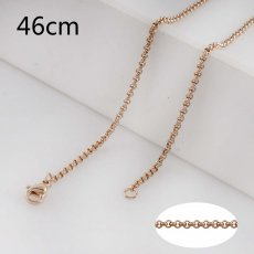 46CM rose gold Stainless steel fashion chain fit all jewelry