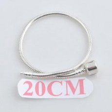 20CM partner sterling silver bracelet with plain clip mother