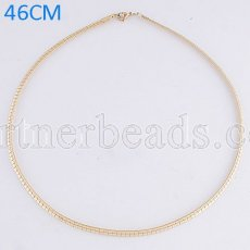46CM Stainless steel fashion chain fit all jewelry gold plated FC9021