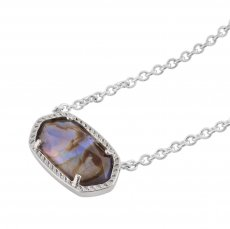 Kendra Scott style Elisa Pendant Necklace Abalone shells with silver plating chain  Elisa size