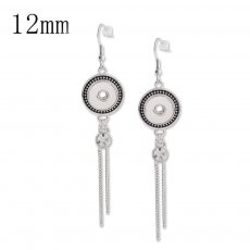 Snaps metal earring with Rhinestone KS1118-S fit 12mm chunks snaps jewelry