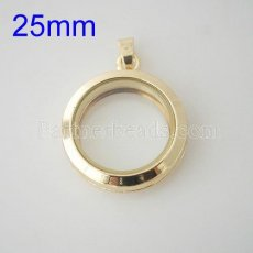 25mm Golden floating locket