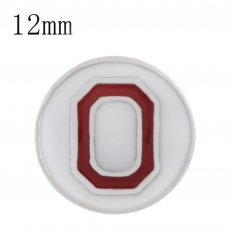 Sport football sliver Plated with white enamel KS6324-S Diameter 12MM