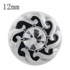 12MM design snap with white Rhinestone KS5193-S interchangeable snaps jewelry
