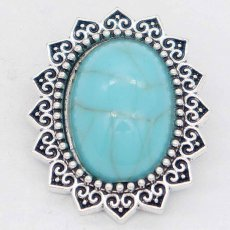 20MM design snap Silver Plated with  green Turquoise KC6868 snaps jewelry