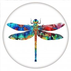 20MM Painted Dragonfly enamel metal C5706 print snaps jewelry