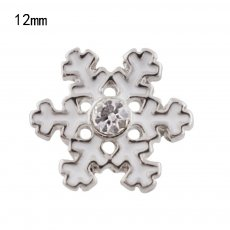 12mm Christmas snowflake Small size snaps for chunks jewelry