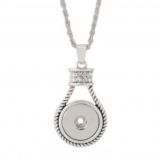 Pendant of necklace with 45CM chain fit 18mm snap chunks