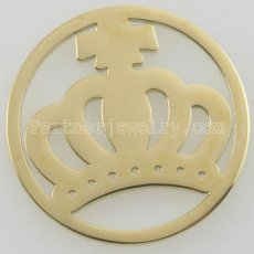 33MM stainless steel coin charms fit  jewelry size crown