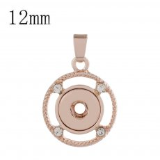 snap rose gold Pendant fit 12MM snaps style jewelry KS0354-S