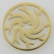 33MM stainless steel coin charms fit  jewelry size wheels