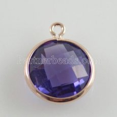 Verre cristal pendre charms dia 12mm color001