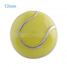 12MM tennis snap Antique Silver Plated with yellow enamel KS6093-S snaps jewelry
