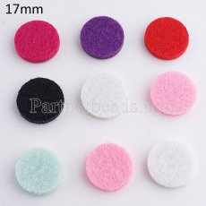 10pcs / set Rebanadas de perfume de esponja 17mm fit Snap perfume 25mm locket MIX colores