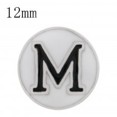 Sport football sliver Plated with white enamel KS6323-S Diameter 12MM