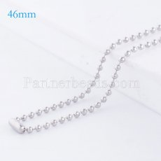 46CM Stainless steel fashion chain fit all jewelry silver plated FC9022