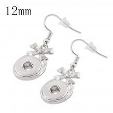 Snaps metal earring with Rhinestone KS1119-S fit 12mm chunks snaps jewelry