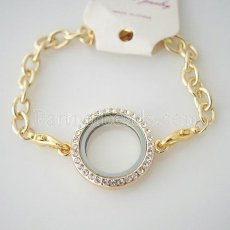 Golden floating locket bracelets