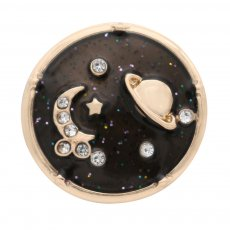 20 millimeter stars,moon and planet gold plated enamel tape drill KC9911 buckle jewelry
