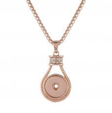 Pendant of rhinestone Rose Gold  Necklace with 50CM chain KC1036 snaps jewelry