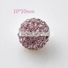 10 * 10mm Lila Strass Perlen