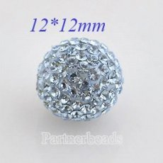 12mm Lightblue STELLUX Austrian crystal ball beads
