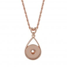 Pendant of rhinestone Rose Gold  Necklace with 45CM chain KC1038 snaps jewelry
