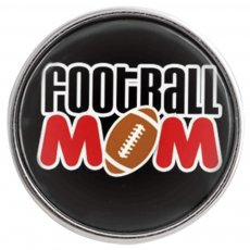 20MM snap glass Football mother C0991 interchangeable snaps jewelry
