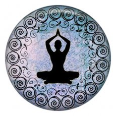 20MM Yoga Painted enamel metal C5566 print snaps jewelry
