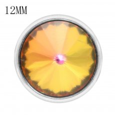 12MM snap With colorful rhinestones KS7043-S interchangable snaps jewelry