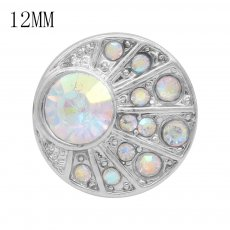 12MM snap With colorful Rhinestone KS7048-S interchangable snaps jewelry