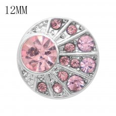 12MM snap With Pink Rhinestone KS7051-S interchangable snaps jewelry