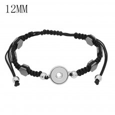 1 buttons Black KS1283-S Watch bracelets fit 12MM snaps chunks