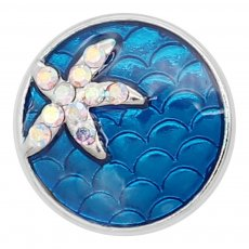 20MM Starfish Snap mit Strass Emaille KC8040 Blue