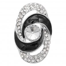 20MM  snap Silver Plated with white rhinestone KC9180 snaps jewelry