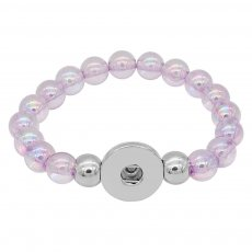 colorful beads bracelets Fit 18/20mm snaps chunks