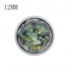 12MM snap charms With Colorful shell KS9717-S interchangable snaps jewelry